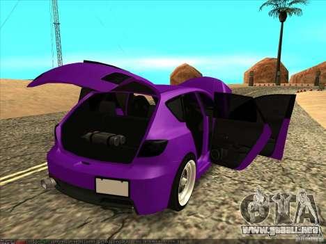Mazda Speed 3 Stance para visión interna GTA San Andreas