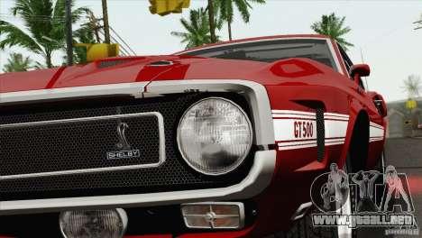 Shelby GT500 428 Cobra Jet 1969 para vista lateral GTA San Andreas