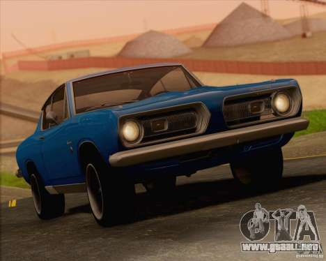 Plymouth Barracuda 1968 para vista inferior GTA San Andreas