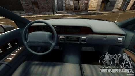 Chevrolet Caprice 1991 para GTA 4 vista hacia atrás