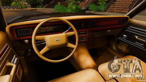 Ford LTD Crown Victoria 1987 para GTA 4 vista hacia atrás