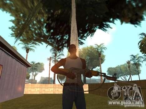 AK 47 con un cuchillo bayoneta HD para GTA San Andreas sucesivamente de pantalla