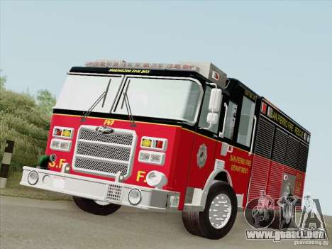 Pierce SFFD Rescue para GTA San Andreas left