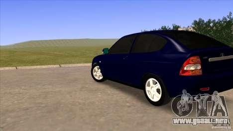 LADA Priora 2172 para GTA San Andreas vista posterior izquierda