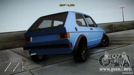 Volkswagen Golf MK1 para la visión correcta GTA San Andreas