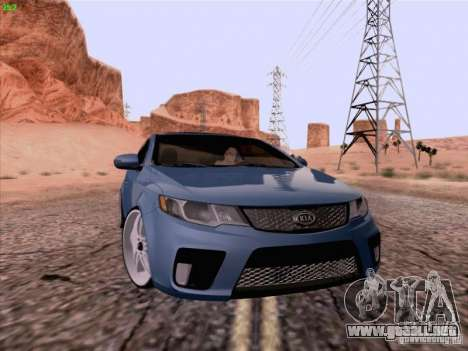 Kia Cerato Coupe 2011 para GTA San Andreas vista posterior izquierda