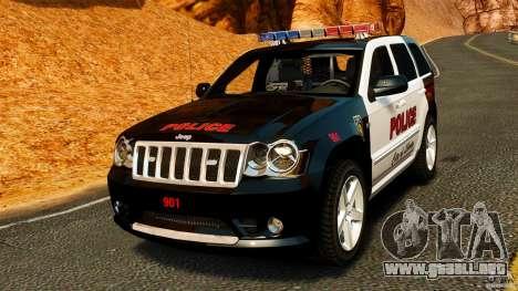 Jeep Grand Cherokee SRT8 2008 Police [ELS] para GTA 4