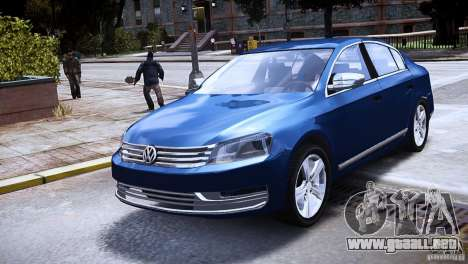 VW Passat B7 TDI Blue Motion para GTA 4