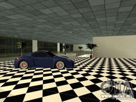 Salón del automóvil de Porsche para GTA San Andreas sucesivamente de pantalla
