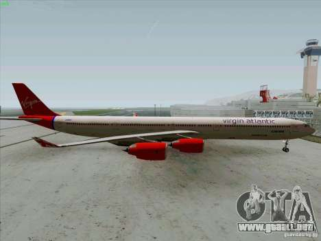 Airbus A-340-600 Virgin para GTA San Andreas left