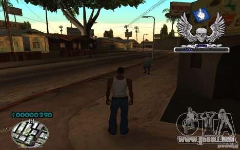 C-HUD awk William para GTA San Andreas segunda pantalla