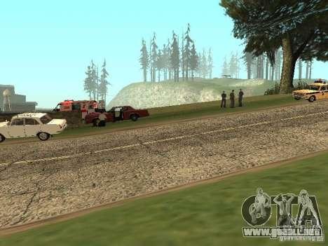 Un horrible accidente para GTA San Andreas segunda pantalla