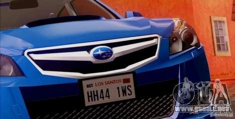 Subaru Legacy B4 2010 para las ruedas de GTA San Andreas