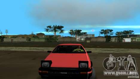 Toyota Trueno Sprinter para GTA Vice City vista lateral izquierdo