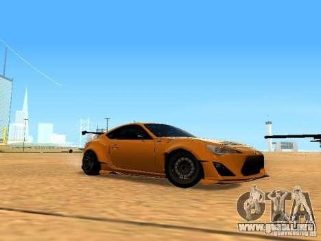 Toyota FT86 Rocket Bunny V2 para visión interna GTA San Andreas
