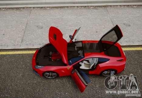 Ferrari F12 Berlinetta 2013 para GTA 4 Vista posterior izquierda