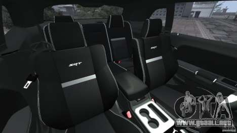Dodge Challenger SRT8 392 2012 [EPM] para GTA 4 vista interior