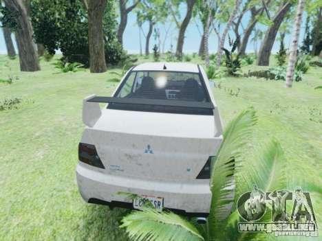 Mitsubisi Lancer Evolution IX GSR 2005 para GTA 4 visión correcta