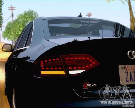 Audi S4 2010 para vista inferior GTA San Andreas