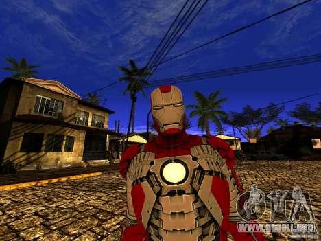Iron Man 3 Mark V para GTA San Andreas sucesivamente de pantalla