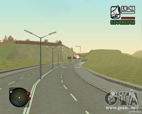 Gosport Road-Nižegorodsk para GTA San Andreas quinta pantalla
