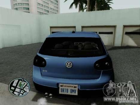 Volkswagen Golf V R32 Black edition para GTA San Andreas vista posterior izquierda