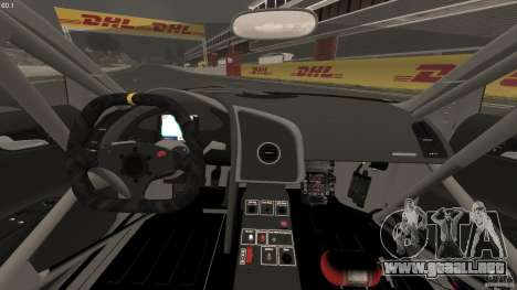 Audi R8 LMS para GTA 4 vista hacia atrás