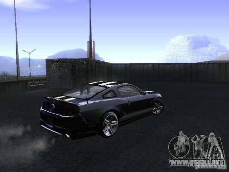 Ford Mustang Shelby GT500 para GTA San Andreas vista hacia atrás