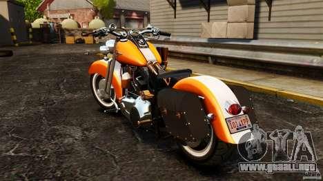 Harley Davidson Fat Boy Lo Vintage para GTA 4 Vista posterior izquierda
