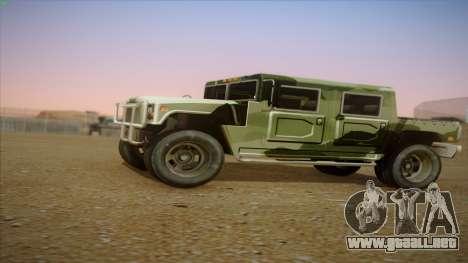 HD Patriot para GTA San Andreas left