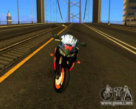 HONDA CBR 1000RR Repsol para GTA San Andreas left