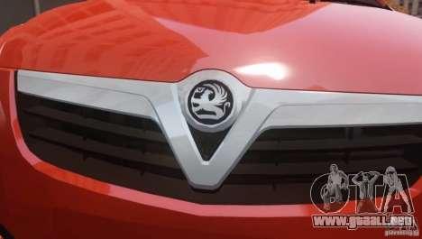 Vauxhall Agila 2011 para GTA 4 Vista posterior izquierda