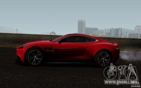Aston Martin Vanquish 2012 para la visión correcta GTA San Andreas