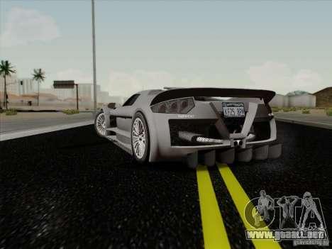 Gumpert Apollo 2005 para GTA San Andreas vista posterior izquierda