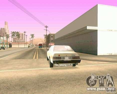 Young ENBSeries para GTA San Andreas sucesivamente de pantalla
