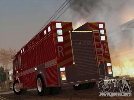 Pierce Contender LAFD Rescue 42 para la vista superior GTA San Andreas