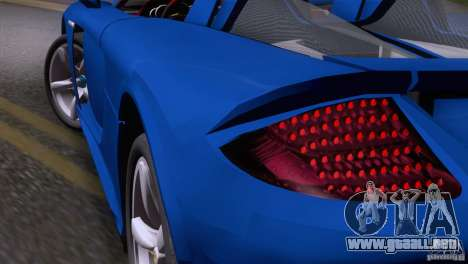 Porsche Carrera GT Custom para la visión correcta GTA San Andreas