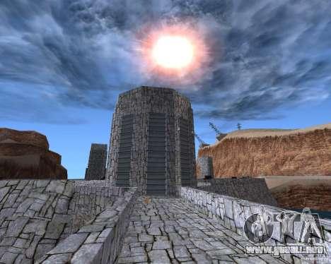 La nueva estructura de la presa para GTA San Andreas tercera pantalla