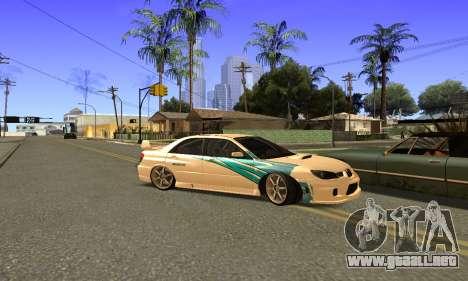 Subaru Impreza WRX STi 2006 para visión interna GTA San Andreas
