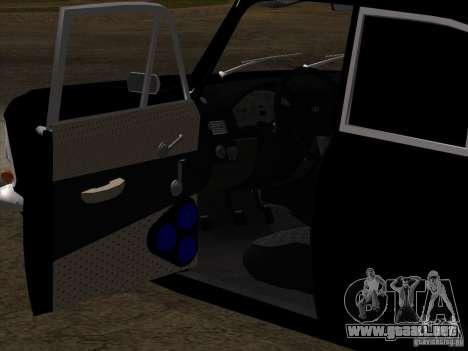 Moskvitch 408 estilo Extra para la vista superior GTA San Andreas