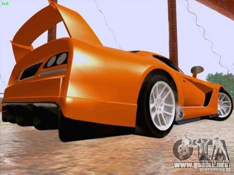 Dodge Viper GTS-R Concept para GTA San Andreas vista posterior izquierda