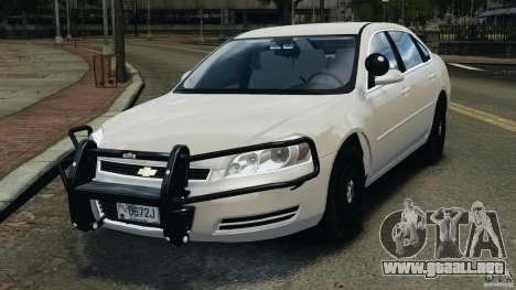 Chevrolet Impala Unmarked Detective [ELS] para GTA 4