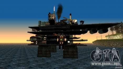 Plataforma petrolífera en Los Santos para GTA San Andreas segunda pantalla