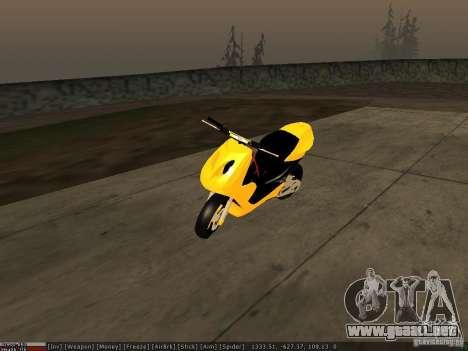 Yamaha Aerox para vista inferior GTA San Andreas