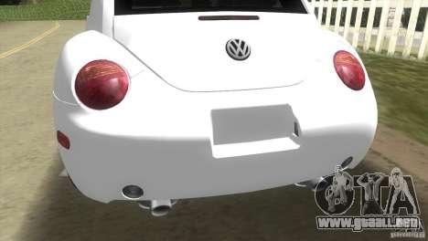 VW New Beetle para GTA Vice City visión correcta