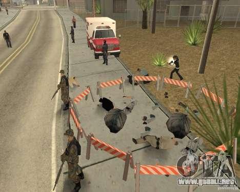 Escena del crimen (escena del crimen) para GTA San Andreas sucesivamente de pantalla