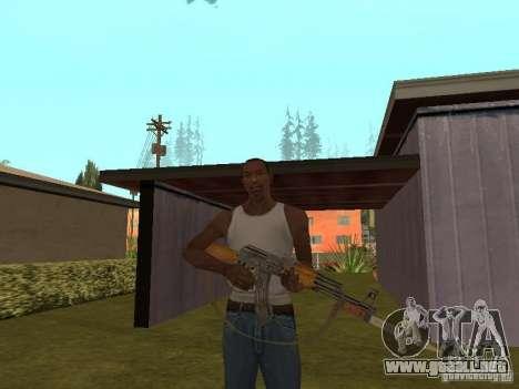AK 47 con un cuchillo bayoneta HD para GTA San Andreas