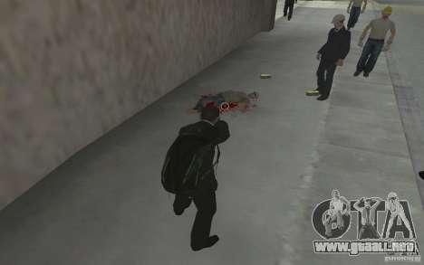 Animar el cuerpo del GTA IV para GTA San Andreas quinta pantalla