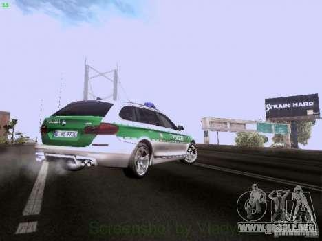 BMW M5 Touring Polizei para la vista superior GTA San Andreas