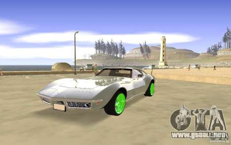 Chevrolet Corvette Stingray Monster Energy para vista inferior GTA San Andreas